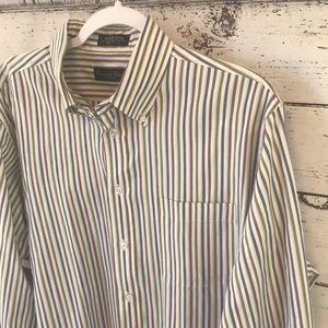 Christian Dior monsieur multi striped button down